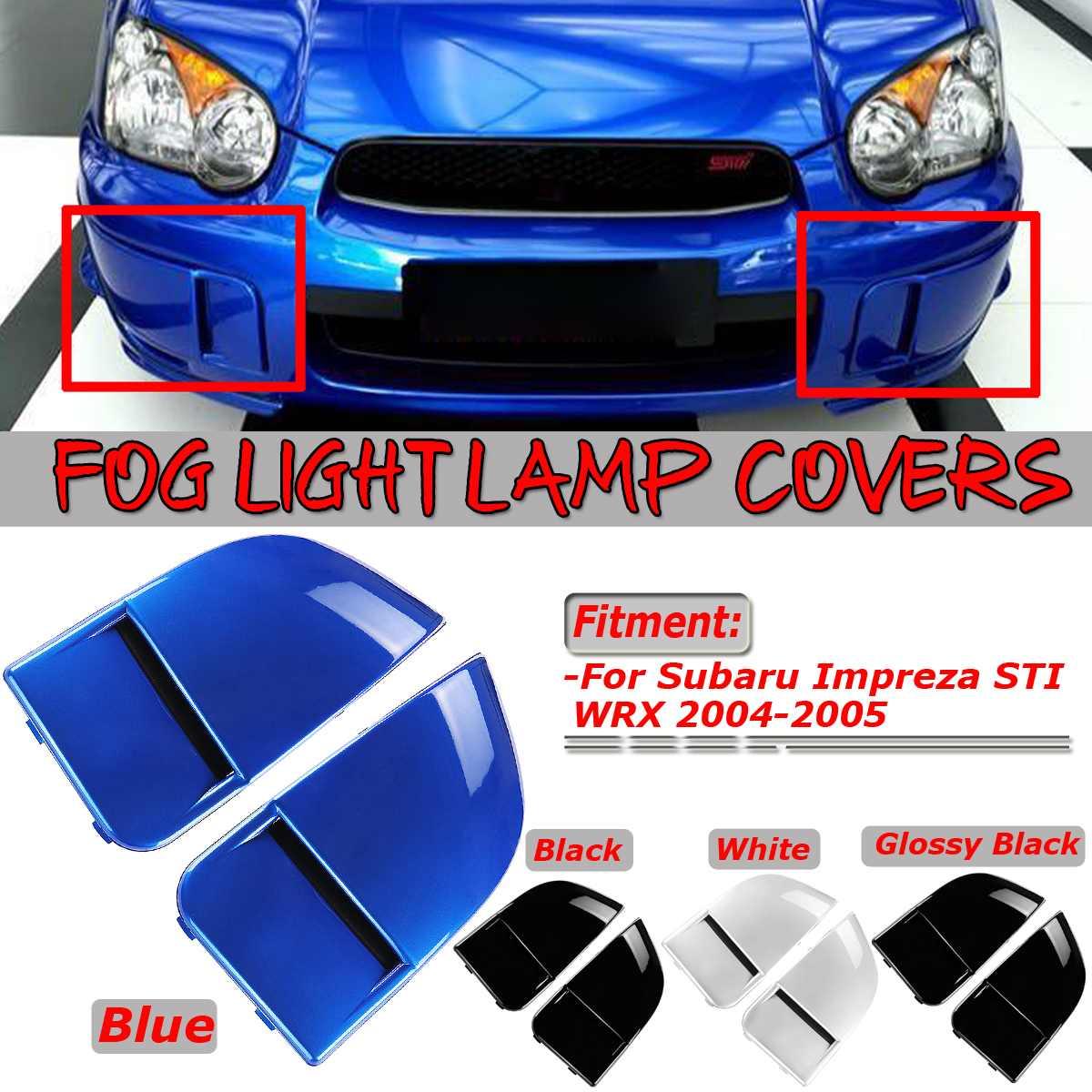 1 Pair Car Front Fog Light Lamp Covers Bumper Cover Cap Trim Protection For Subaru Impreza STI WRX 2004-2005 Car Lamp Mask Cover1 Pair Car Front Fog Light Lamp Covers Bumper Cover Cap Trim Protection For Subaru Impreza STI WRX 2004-2005 Car Lamp Mask Cover