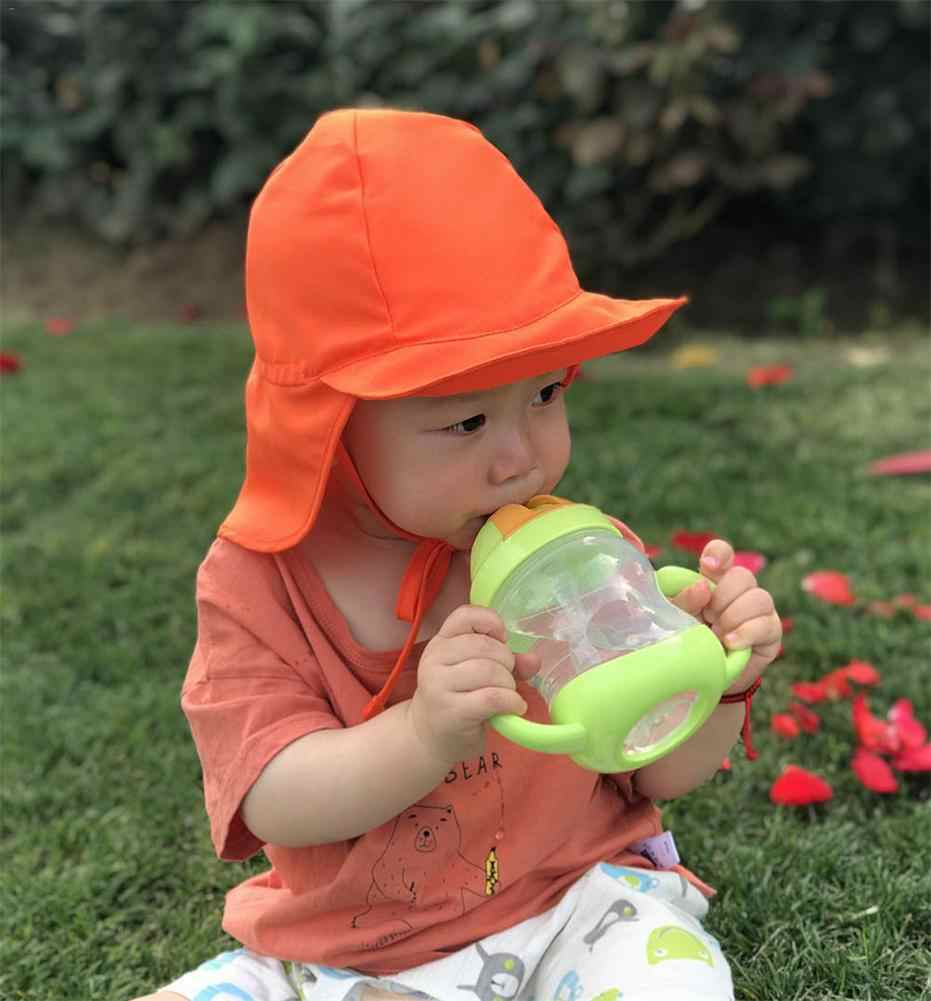 Children Summer Sun Hat UPF 50+ UV Protection Outdoor Beach Hat Baby Toddler Neck Ear Cover Flap Cap Adjustable Drawstring Cap