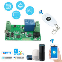 5V /12V / 220V Wifi Switch Wireless Relay Module RF 433MHz Remote Switch+1PCS RF 433MHz Remote Controller Access Control System(China)