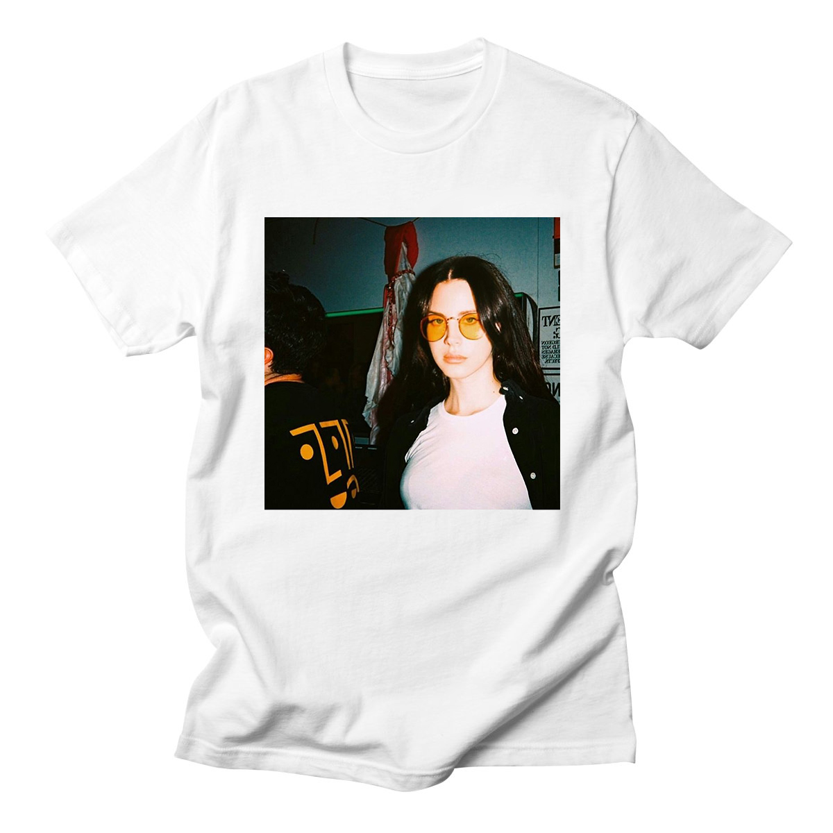 Lana Del Rey Letter Print Casual Funny Shirt For Lady White Top Tee High Quality O-Neck Woman Summer  Plus Size Women