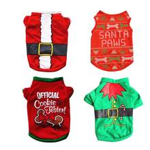 eb11f2e7 Christmas Costume Dog Clothes Pet Puppy Dog Cat Shirt For Large And Small  Dogs XS-L Size Dog T-Shirts Clothing Pets Supplies