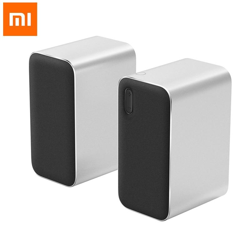 Xiaomi APTX AAC Support bluetooth 4.2 Computer Speaker CNC Aluminium Alloy High Standard Music Speaker with Mic Desktop Speaker