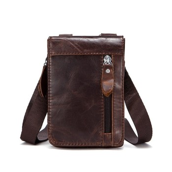 New Men Crossbody Bag Genuine Leather Business Small Shoulder Bags For Men Vintage Male Messenger Bags Leather  Bolsa Masculina bullcaptain new men bag genuine leather man brand crossbody shoulder bag small business bags male messenger leather bags