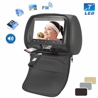 New 7 inches Car Headrest Monitor Rear Seat Monitor with Zipper USB SD MP4 Multimedia Player Black Beige Gray SH7048 P5 Zip