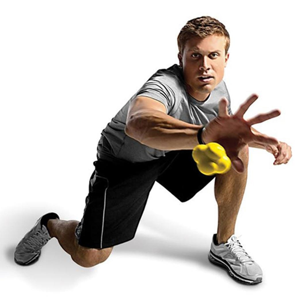 Reaction Training Ball Basketball Pyramid Random Bounce Sports Fast Speed Agility Coordination Exercise Baseball Fitness WorkoutReaction Training Ball Basketball Pyramid Random Bounce Sports Fast Speed Agility Coordination Exercise Baseball Fitness Workout