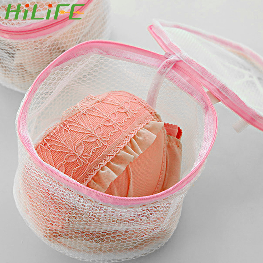 HILIFE Net Mesh Clothes Sock Washing Organizer Zip Bags Women Lingerie Bra Underwear Washing Bags Hosiery Saver Bras Protector