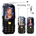 DBEIF D2016 Voz Mágica Dual linterna FM 13800 mAh MP3 MP4 banco de potencia Antenn TV analógica resistente teléfono móvil celular p242