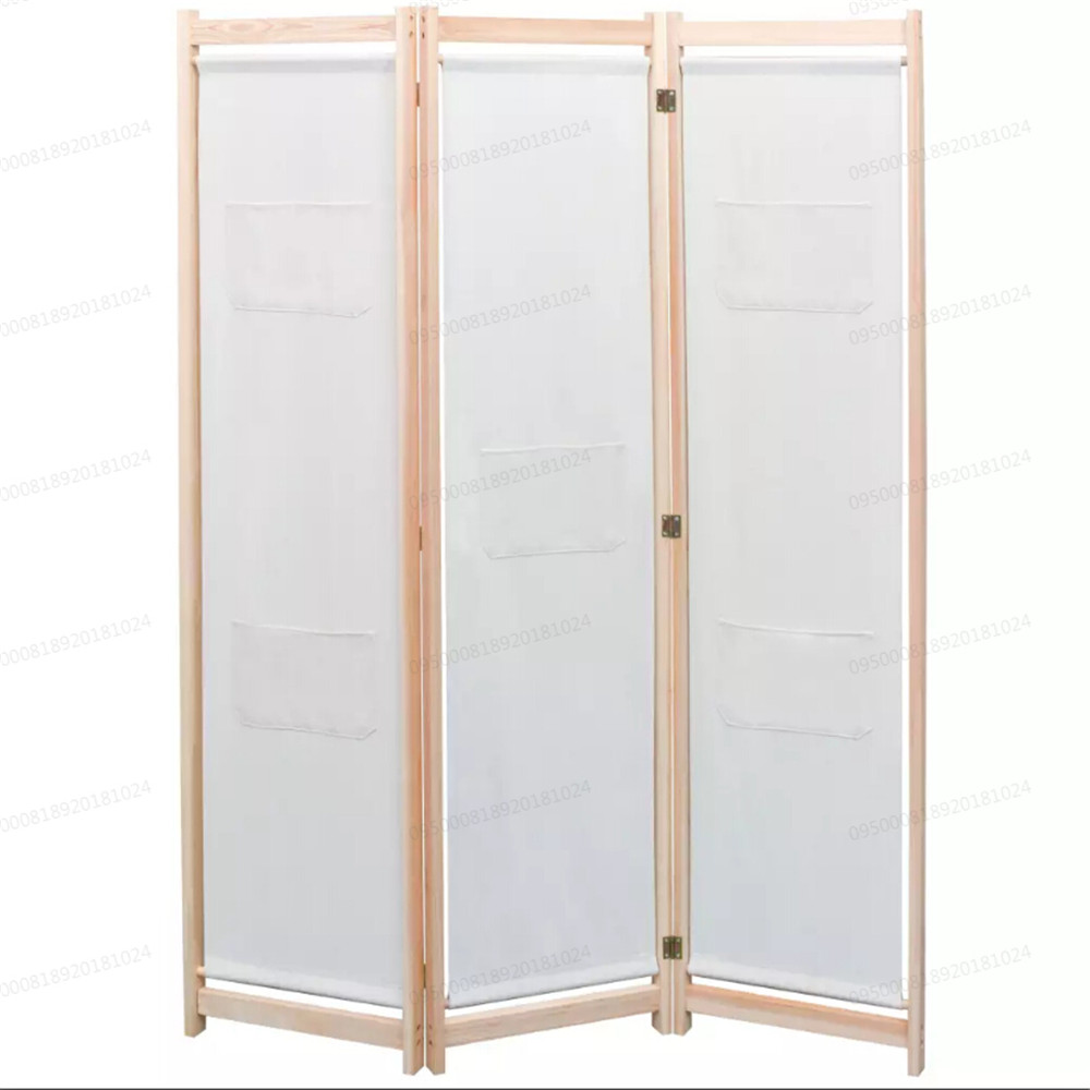 Vidaxl 3 Panel Bamboo Room Divider Screen Paravent Foldable Partition Privacy Wall Home Garden Store Furniture