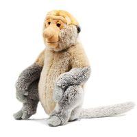Zhwenyin Malaysia Tourism Year Plush Doll Proboscis Monkey Mascot Plush Toy Doll Large Cartoon Doll