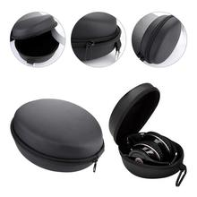 Portable Earphone Storage Bag Bluetooth Headset Cover Big Eva Headphone Case PU Zipper Box