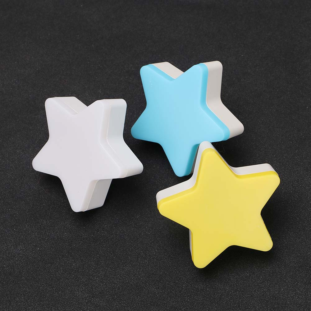 Star-shaped Night Light Sensor Control LED Lamp EU/US Plug Novelty Bedroom Sleep Light Children Bedroom Luminaire Led Nightlight
