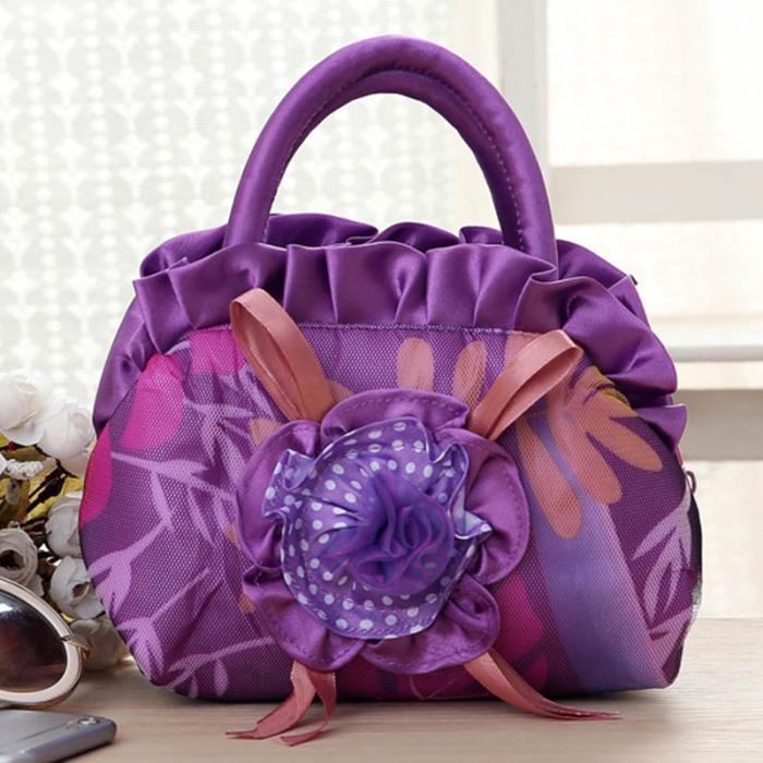1 Pcs Frauen Handtasche Zipper Blume Kleine Tragbare Für Handy Keys Geld Fa $3 Angenehm Im Nachgeschmack