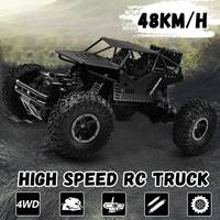 48km/h Hot RC Car 4WD 2.4G Driving Rock Crawlers Car Double Motors Drive Bigfoot Cars Remote Control Model Off Road Vehicle Toy