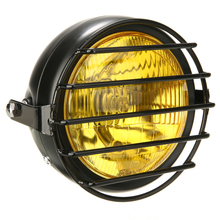 1pc Motorcycle High/Low Bean Headlight Lamp Shade Grill Cover Retro Vintage Mask For Cafe Racer Bobber цена и фото