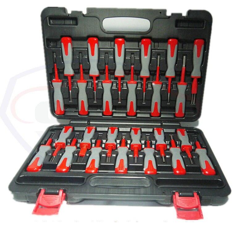 25 In 1 Terminal Removal Tools Release Extractor Crimp Terminal Removal Demonteren Tool Kit Voor Audi Vw Molex Delphi Tyco amp