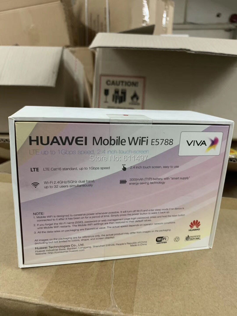 US $235 0 |Huawei E5788 CAT16 1Gbps Download Mobile WiFi 4G LTE Router  huawei E5788u 96a Support 4G Band:1/2/3/4/5/7/8/19/20/28/38/40/41/42-in  3G/4G