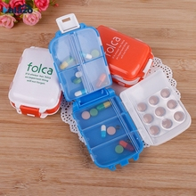 Plastic Weekly Folding Medicine Tablet Pill Box Case Portable Candy Vitamin Cont