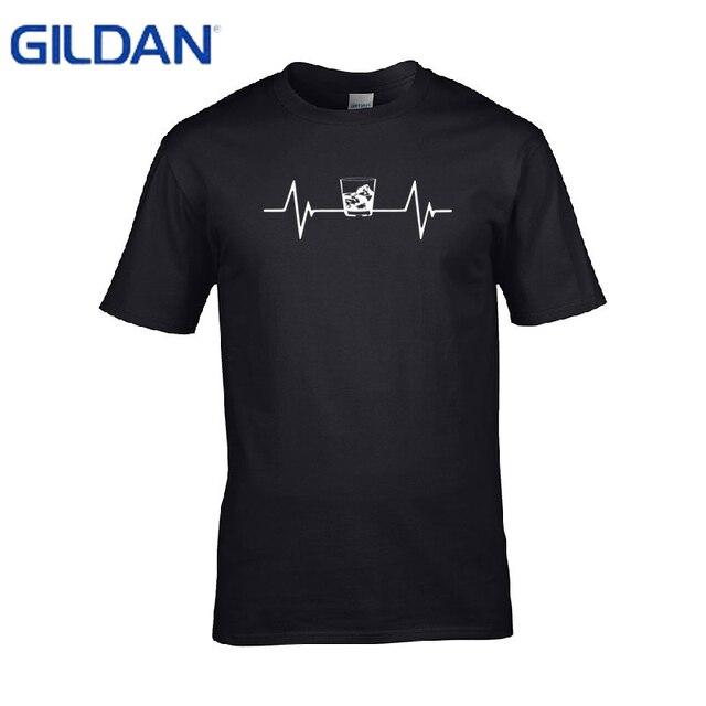 72eba7de1 Funny t-shirt man brand Gildan Jim Beam Whiskey Label t shirt 2017 summer  tshirt big size Tee tops