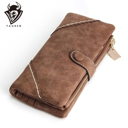2019 New Women Wallets Coin Case Purse For Phone <font><b>Card</b></font> Wallet Leather Purse Ms Frosted Long Purse Vintage Buckles Lace Wallet