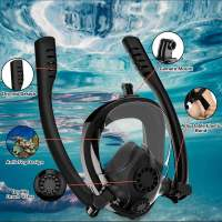 Adult Kids Double Tubes Full Face Diving Mask Underwater Double Snorkel Scuba Diving Mask Anti Anti Fog Leak