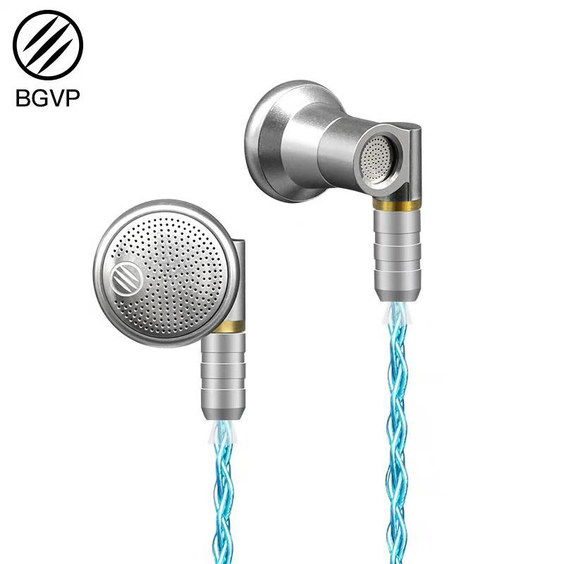 BGVP DX3s Earphone Dynamic HiFi Audiophile Flat Earphone With MMCX 3.5mm Detachable 5N Pure Silver Plated Cable