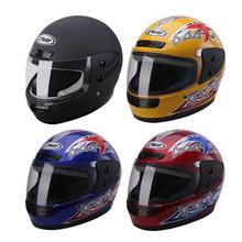 Casco del motociclo Mens Moto Casco di Alta Qualità Caldo Pieno di Copertura In Plastica ABS Casco di Sicurezza 4 Colori Disponibili