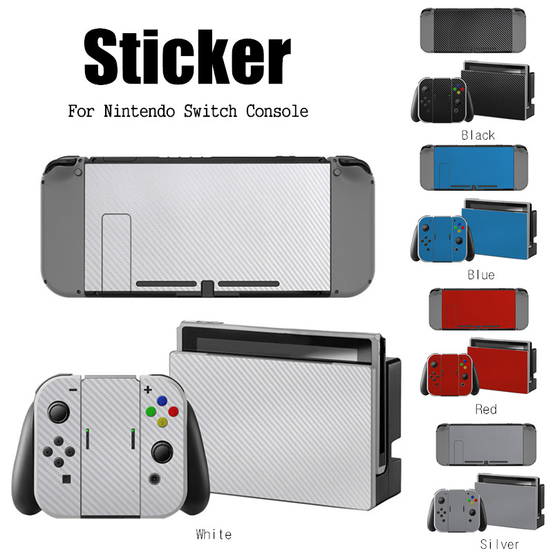 1 Set New Solid Color Series Game Console Skin Stickers Decal Skin Sticker Anti Dust Protector For Game Switch NS Console