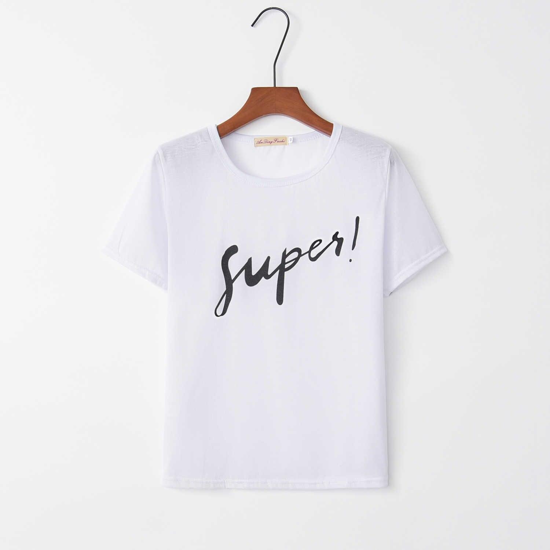 2019 prawdziwa ograniczona Batik koreański jednorożec czarno-biały z krótkim rękawem T-shirt topy na lato odzież damska w europie i ameryka