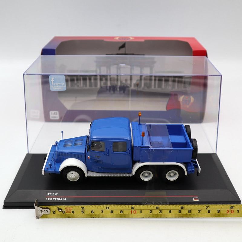 IXO IST 1 43 TATRA 141 1959 T41 Doppelte Kabine Container Blue IST303T Toys Car Diecast