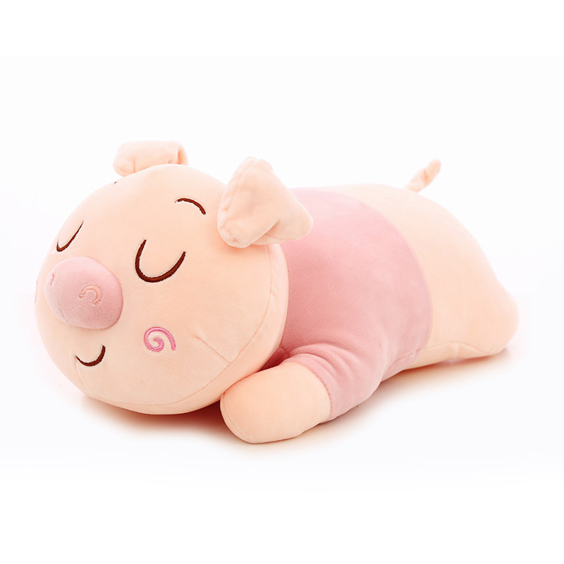 45cm Soft Stuffed Toys Cartoon Pink Pig Plush Toys Fat Pig Pillow Kawaii Baby Appease Sleeping Doll Cotton Girl Brinquedo Toys stuffed toy