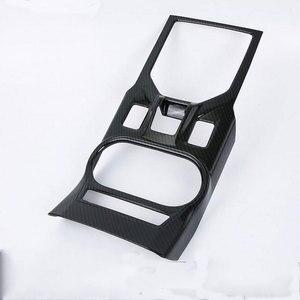 De fibra de carbono Interior de ABS panel de caja de cambios de superposición de adornos para Subaru Interior accesorios para el tablero para XV 2017-2018