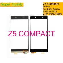10Pcs/lot For Sony Xperia Z5 Compact E5803 E5823 Touch Screen Digitizer Front Glass Z5 Mini Touch Panel Sensor Lens NO LCD