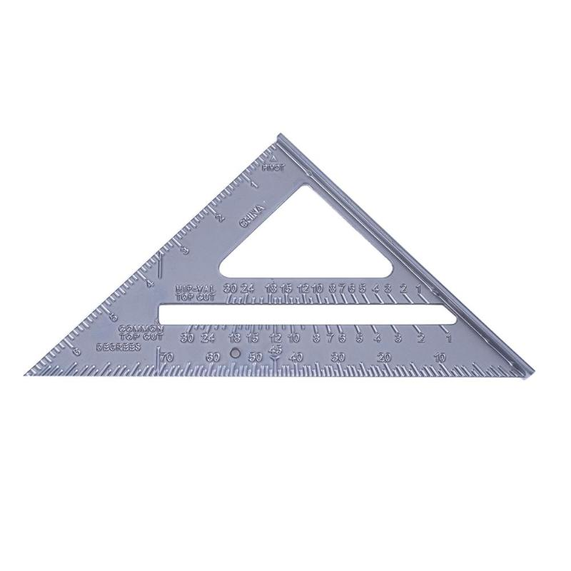 7 Inch Square Triangular Ruler Metal Angle Square Woodworking Measuring Tools Quick Read Square Tool For Students Carpenters