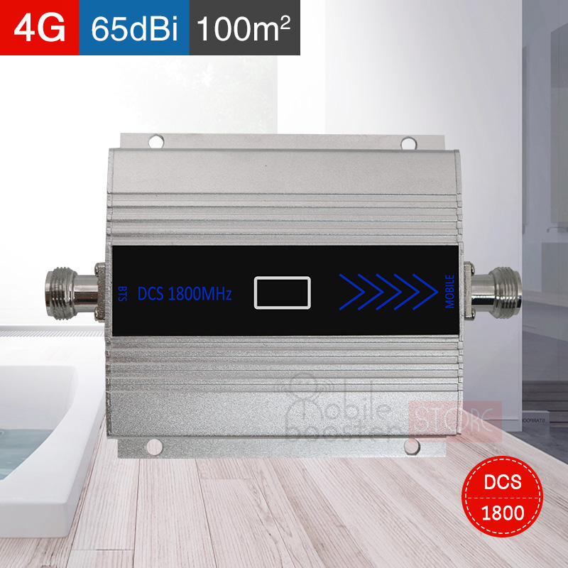 Free Shipping Smart 4g Lte 1800 MHZ Mobile Signal Booster  GSM 2g 4g  DCS 1800 Mobile Phone Signal Amplifier Repeater Gain 65dB