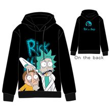 Anime Rick and Morty Tops  Cotton Cosplay Hoodies Standard Hooded Winter Sanchez Smith Sweatshirts Men