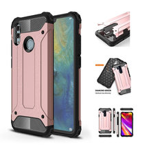 Phone Cover Case For Huawei P Smart 2019 Full Cover Armor Hard Shockproof Back Case On Huawei Honor 10 Lite Cases 6.21 inch(China)