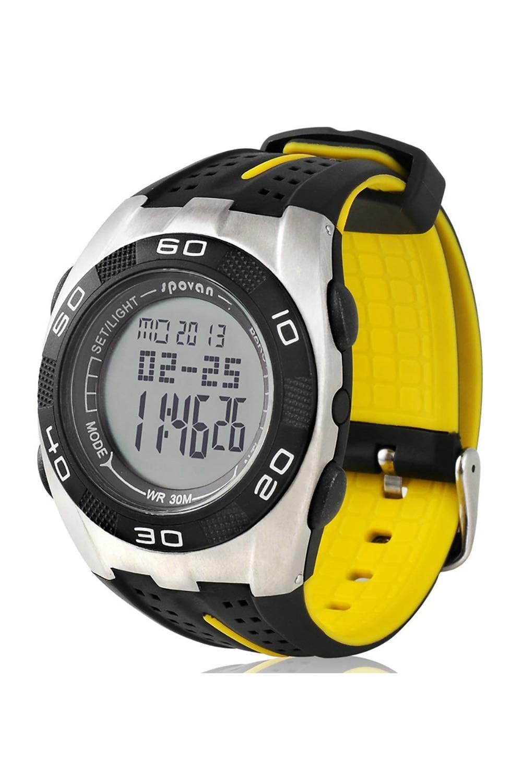 Spovan montre-bracelet multifonction baromètre boussole chronomètre rétro-éclairage