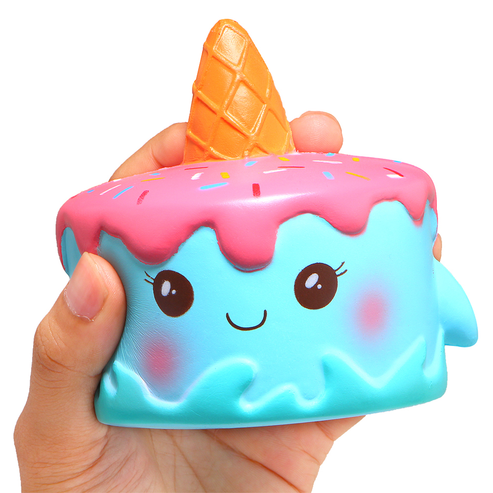 Jumbo Narwhal Squishy Cute Whale Cake Squishies Slow Rising Cream Scented Squeeze Toy Stress Reliever