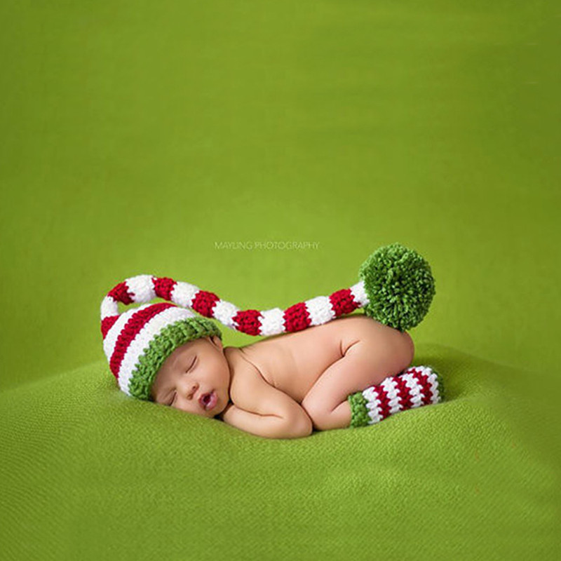 Newborn Photography Props Accessories Baby Photography Knitted Costume Baby Girl Baby Boy Crochet Hat Outfits Baby Photo Props