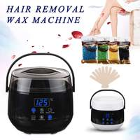 LCD Display Hair Removal Tool epilator Warmer Wax Heater Hand Epilator Feet Paraffin Machine Temperature Control+400g Wax Beans
