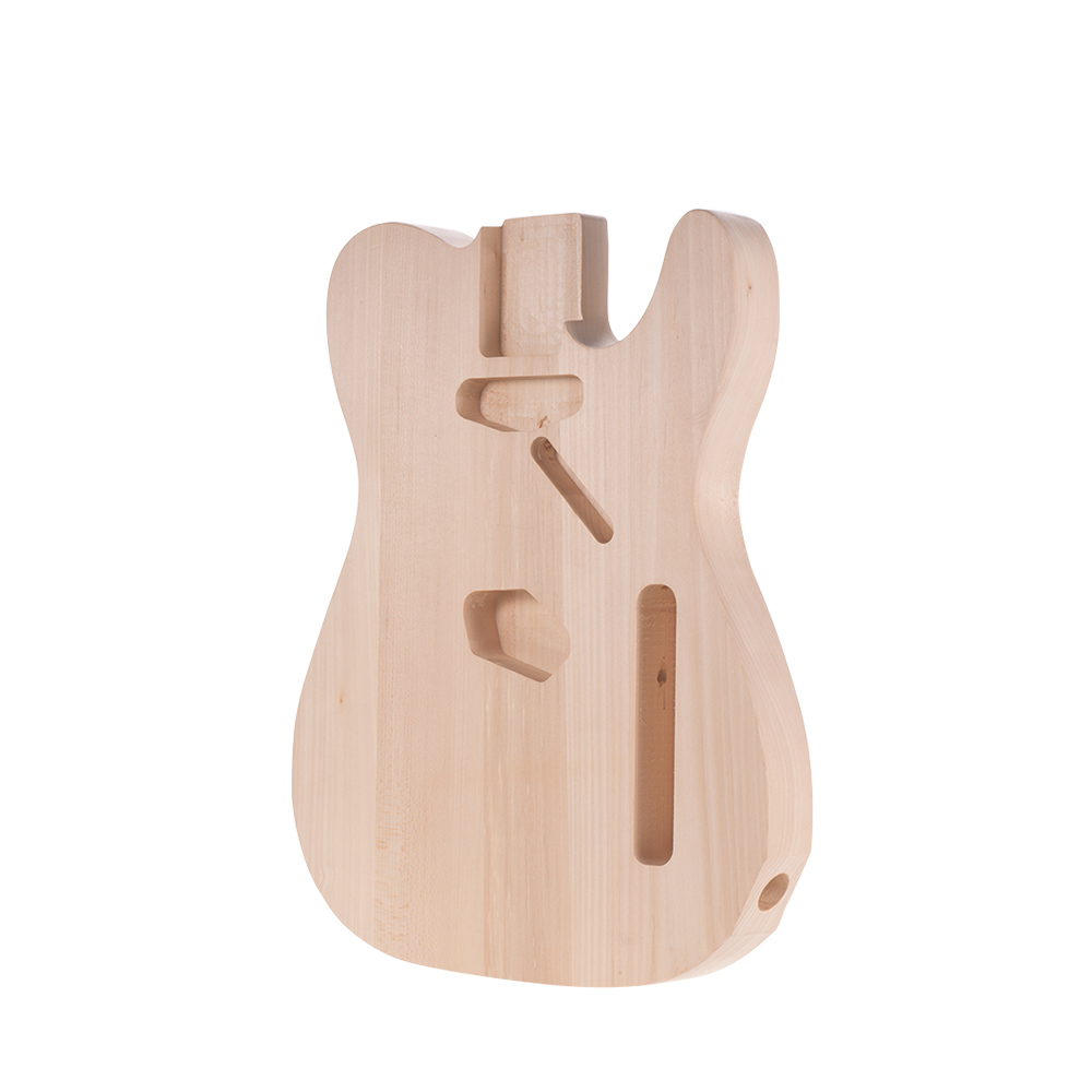 Muslady DIY Electric Guitar Body Basswood Material Unfinished Guitar Bodies Custom Guitar Barrel Parts