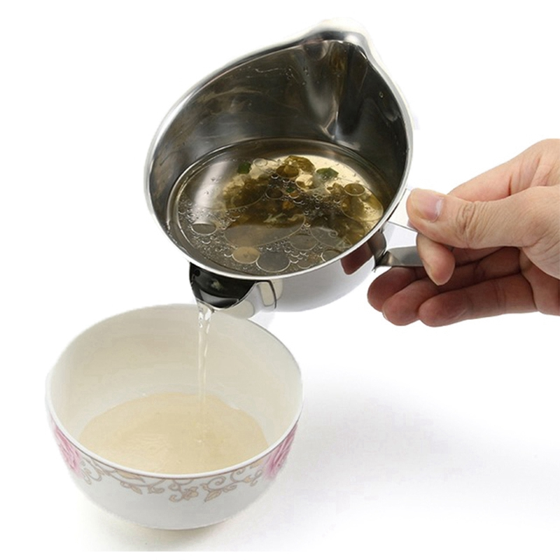 Usefu Stainless Steel Gravy Oil Soup Separator Bowl Multi Use Grease Oiler Filter Strainer Pot Cooking Tools Oil Separator Bow|Coffee Filters| |  - title=