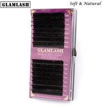 GLAMLASH wholesale premium 16Rows natural soft mink eyelash extension korea pbt lashes cilia makeup cilios