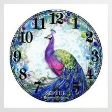 SepYue алмазные картины Вышивка крестиком новые поступления часы с павлином 5D DIY Алмазная вышивка краска с бриллиантами Мозаика горный хрусталь