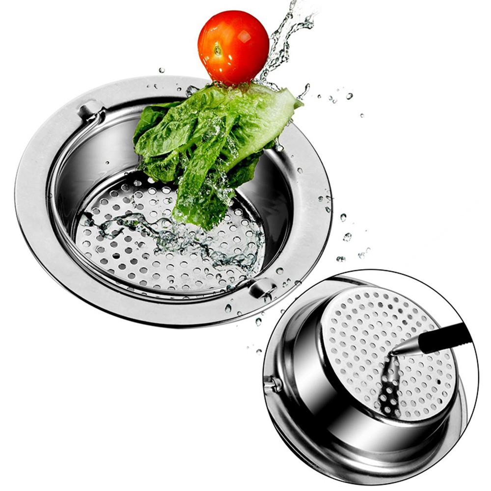 High Quality Kitchen Outfall Water Tank Strainer Sink Stainless Steel Sewer Filter Floor Drain Cuttable Water Tank Filter 9/11cm