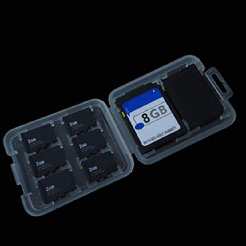 1 PCS Transparent Hard Micro  HC TF MS Memory Card Storage Box Protector Holder Hard Case Double-Layers