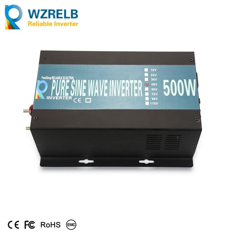 цена на Off Grid 500W Pure Sine Wave Inverter Solar Power Inverter LED Display DC to AC Converter Car Inverter Home Inverter