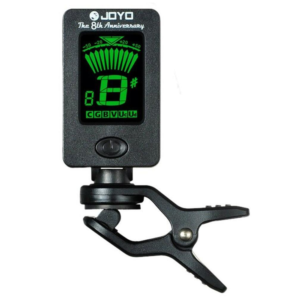 JOYO JT-01 Guitar Tuner Adjustable High-sensitive Mini Digital LCD Clip-on Tuner For Guitar Bass Violin Ukulele Part Accessories