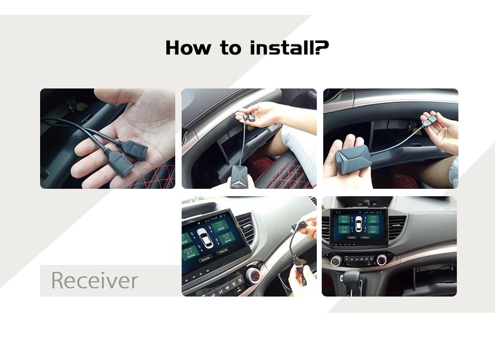 USB Android TPMS Car Tire Pressure Monitoring System Display 4 Internal  Sensors Android Navigation Tyre Pressure Alarm 0-116Psi