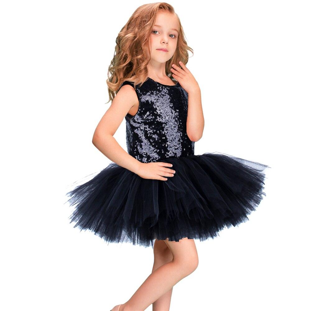 Sequin girl pettiskirt dress sleeveless child girl wedding dress children princess prom dress girl tulle dress